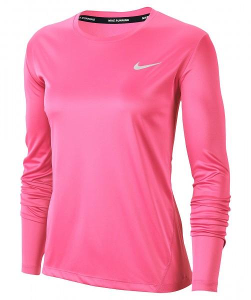 Nike Damen Miler Langarmshirt Laufshirt pink