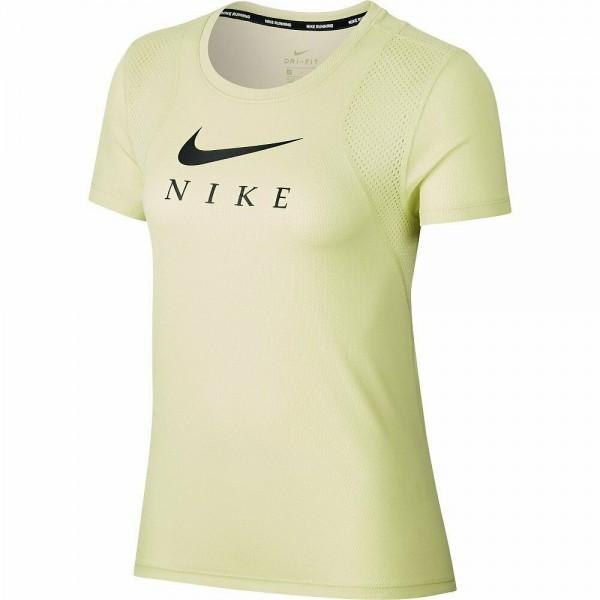 Nike Damen Breathe Run Funktionsshirt Trainingsshirt lime