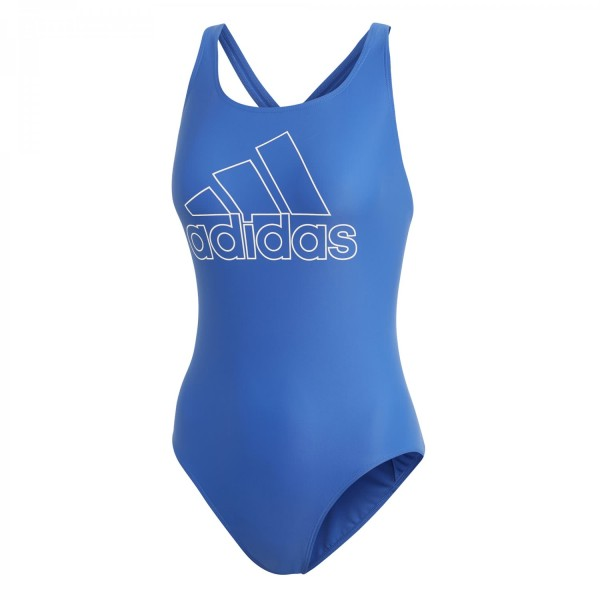 Adidas Damen Badge of Sport Swim Suit Badeanzug blau