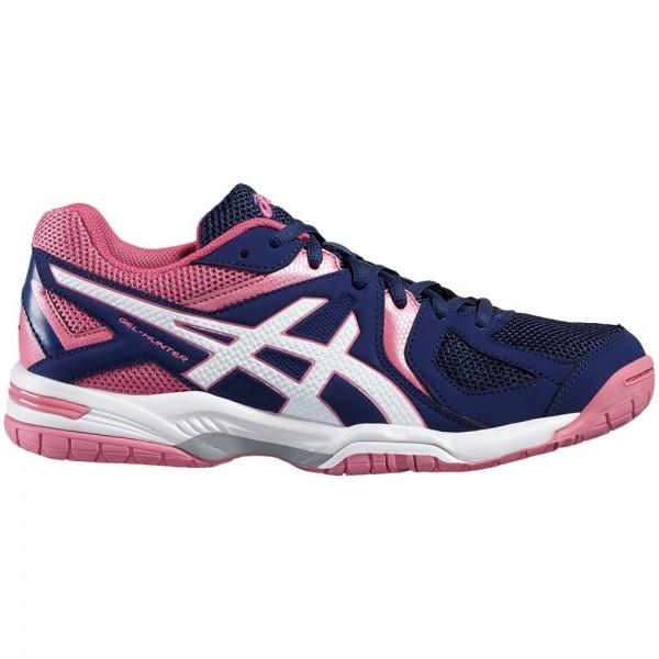Asics Damen Gel-Hunter 3 Hallenschuh Badmintonschuh indigo blue-white-azalea pink