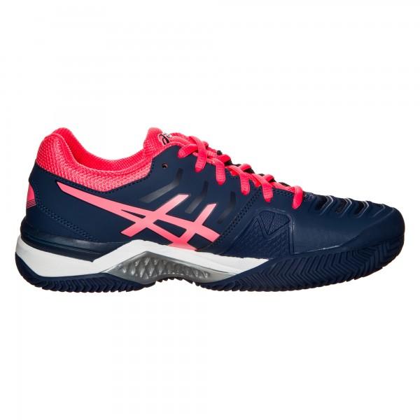 Asics Damen Gel-Challenger 11 Clay Sandplatz Tennisschuh blau-pink