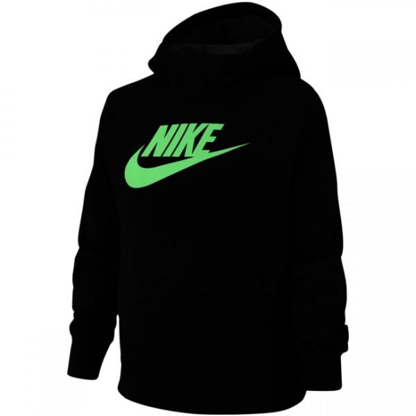 Nike Mädchen Sportswear Hoodie Kapuzenpullover schwarz-grün