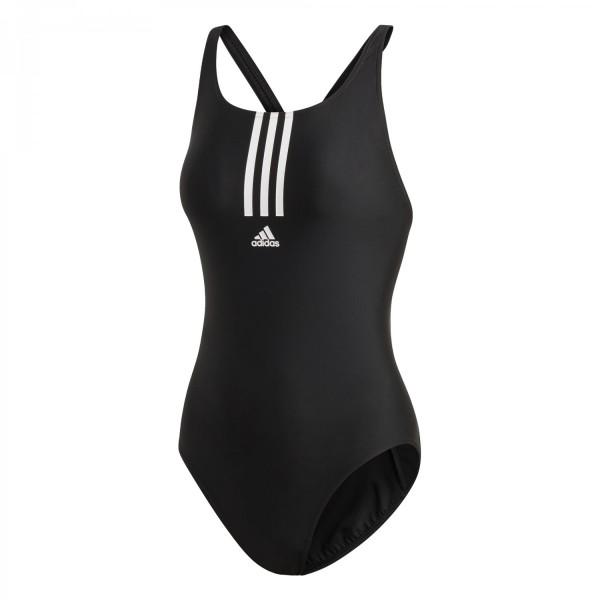 Adidas Damen SH3.RO Mid 3-Streifen Badeanzug schwarz-weiß