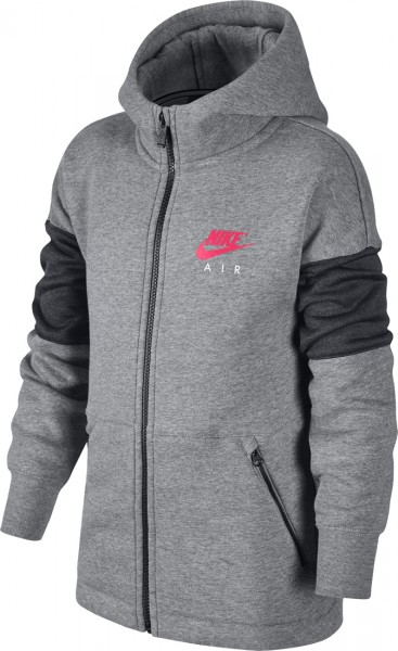 Nike Air Kinder Full Zip Hoodie Carbon Grau