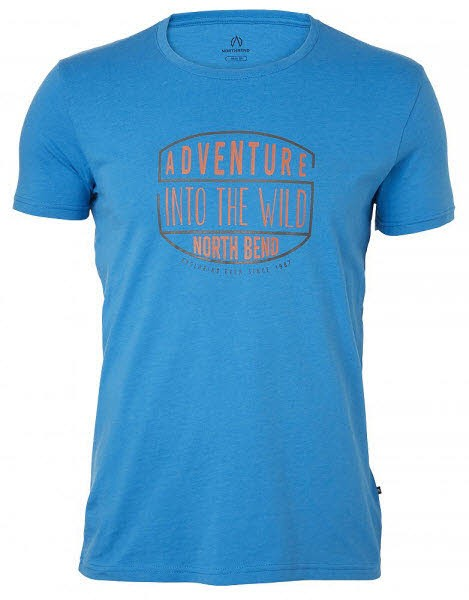 North Bend Herren Vertical T-Shirt blue electric