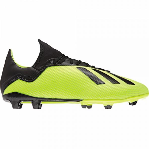 Adidas Herren X 18.3 FG Fußballschuh neongrün-schwarz