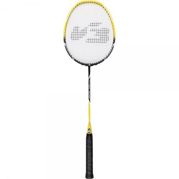 V3TEC Badmintonschläger Federball Racket Schläger 600 gelb-schwarz