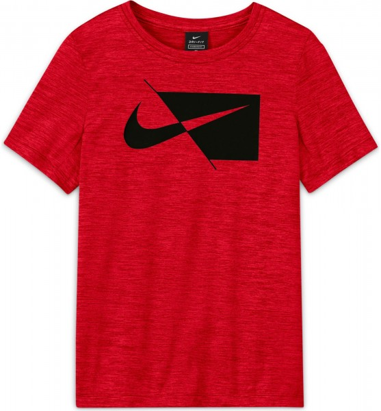 Nike Jungen Core Big Kids T-Shirt Freizeitshirt rot-schwarz