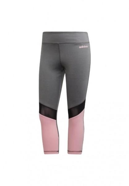 Adidas Damen 3/4 Tight Leggings grau/pink/schwarz