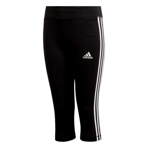 Adidas Kinder 3/4 Leggings 3 Streifen schwarz/weiß