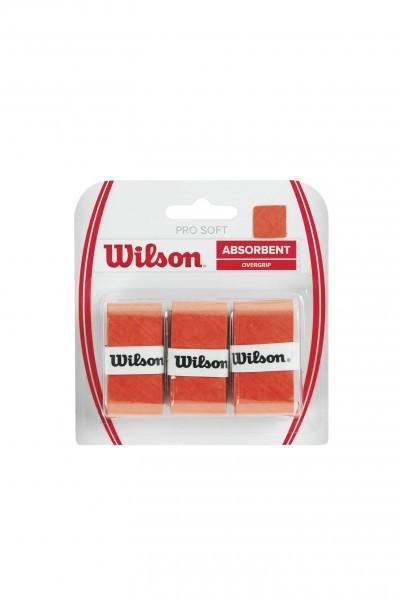 Wilson Pro Soft Absorbent Overgrip 3er orange