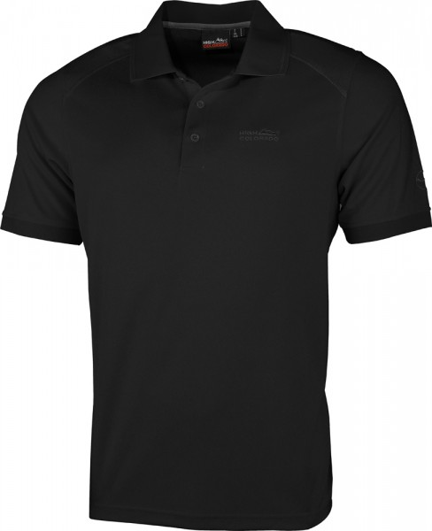High Colorado Herren Polo Seattle Shirt schwarz/rot