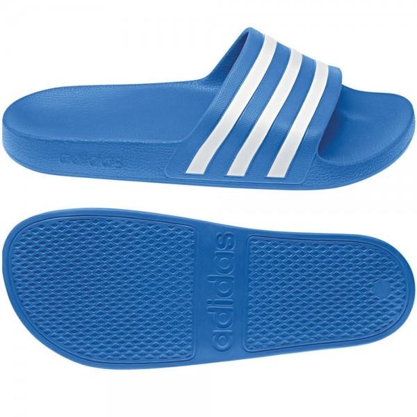 Adidas Adilette Aqua Badelatschen blau/weiß