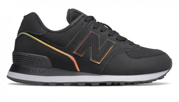 New Balance Damen WL574 Sneaker Freizeitschuh schwarz
