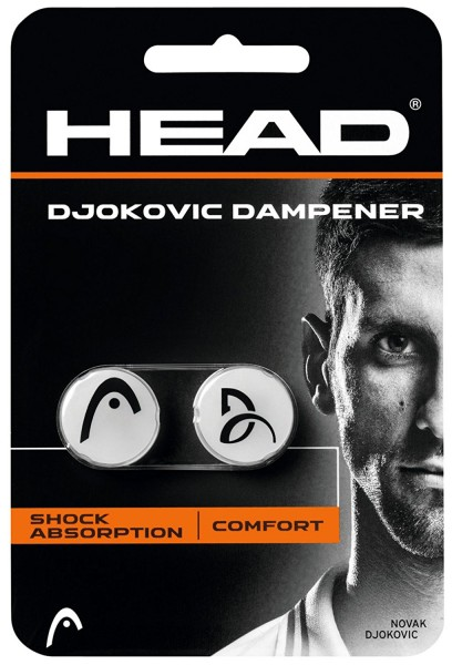 Head Djokovic Dampener Vibrationsdämpfer weiss-schwarz
