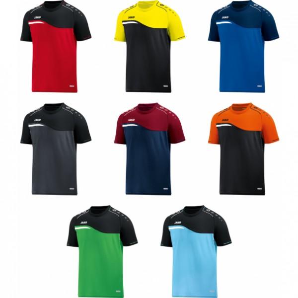 Jako T-Shirt Competition 2.0 aqua/black