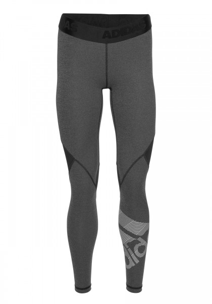 Adidas Damen Alphaskin Bos Tight Sport Leggings schwarz-meliert