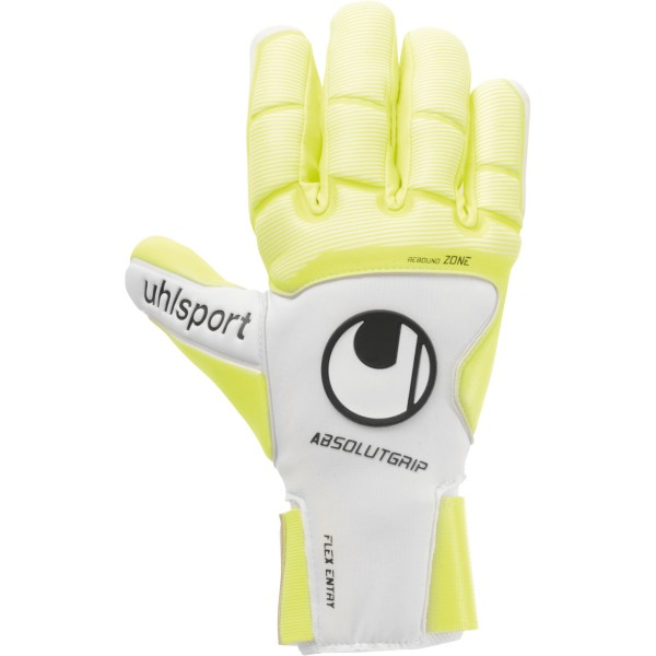 Uhlsport Pure Alliance AbsolutGrip HN Torwarthandschuhe weiß-gelb-schwarz