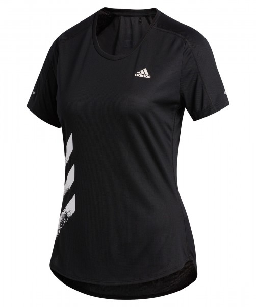 Adidas Damen Run IT Tee 3S Funktionsshirt Trainingsshirt schwarz