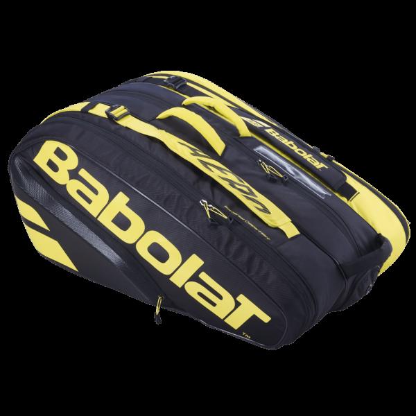 Babolat Pure Aero RH X 12 Schlägertasche Tennistasche schwarz-gelb