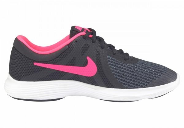 Nike Mädchen Revolution 4 (GS) Lauf-Freizeitschuh schwarz-pink-weiß