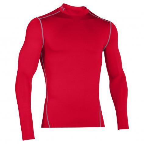 Under Armour Compression Mock-Shirt LS CG Rot