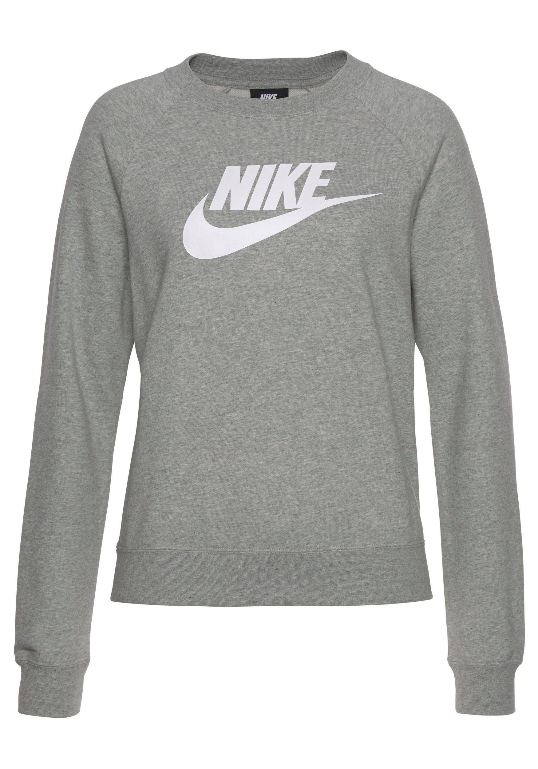 timeless design c9f0f 601db Nike Damen Essential Sweatshirt Pullover grau
