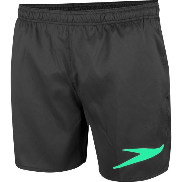 Speedo Herren Solid 16 Badeshort Schwimmhose schwarz-grün