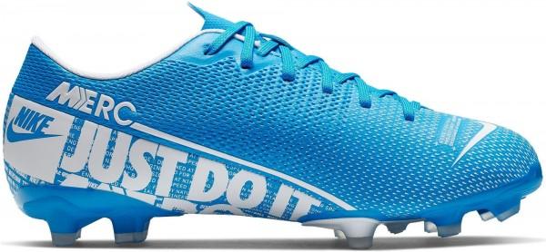 Nike Kinder JR Vapor 13 Acedemy FG/MG Fussballschuh blau-weiß