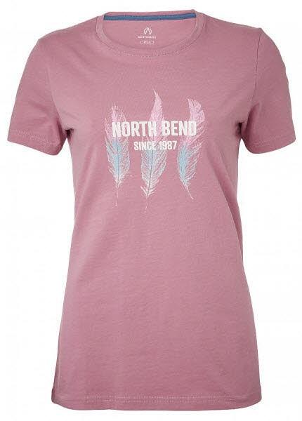 North Bend Damen Vertical T-Shirt pink heather