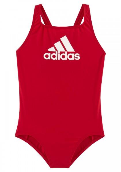 Adidas Mädchen Badge of Sport Badeanzug rot-weiß