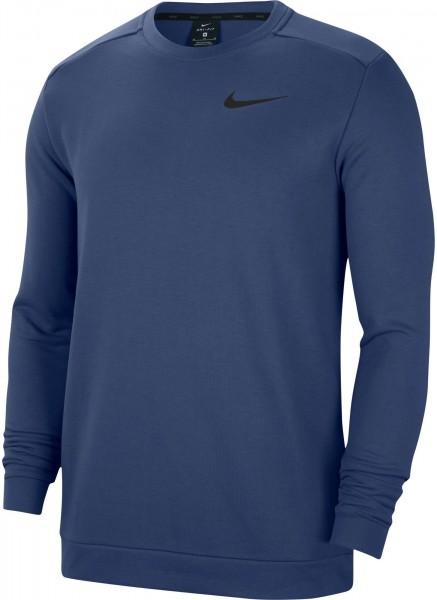 Nike Herren Dri-Fit Crew Fleece Pullover Sweatshirt mystic navy