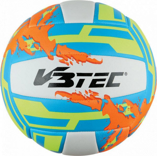 V3Tec Sport 2000 Maui Beach Beachvolleyball weiß-orange-gelb