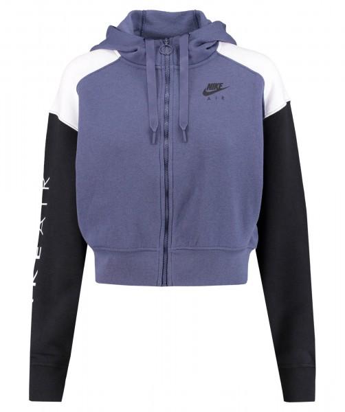 Nike Damen Air Zip Hoodie lila-schwarz-weiß
