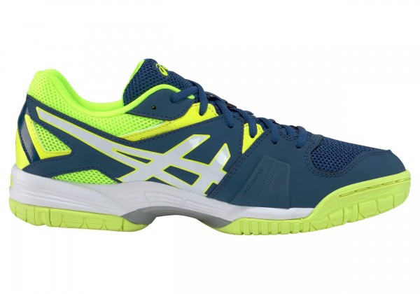 Asics Herren Gel-Hunter 3 Volleyballschuh Hallenschuh poseidon-white-safety yellow