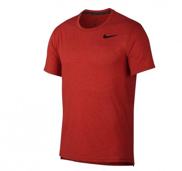 Nike Herren Dri-Fit Breathe Trainingshirt rot