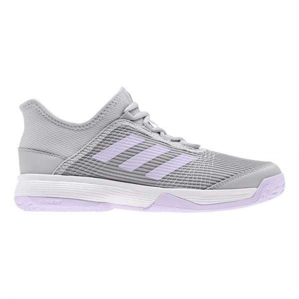 Adidas Kinder Adizero Club Tennisschuh Allcourt grau-weiß-lila