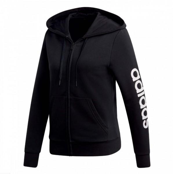 Adidas Damen Kapuzenjacke Core Linear Full Zip Hoodie schwarz