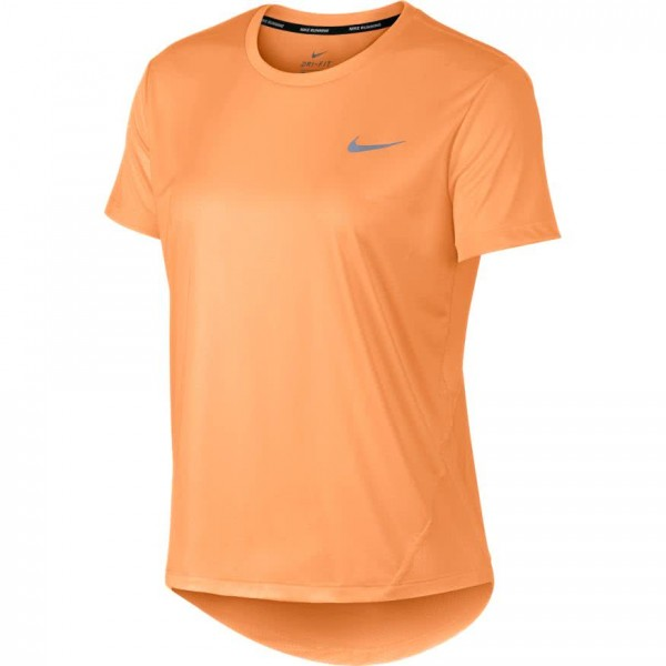 Nike Damen Miler Trainingsshirt Fitnessshirt orange