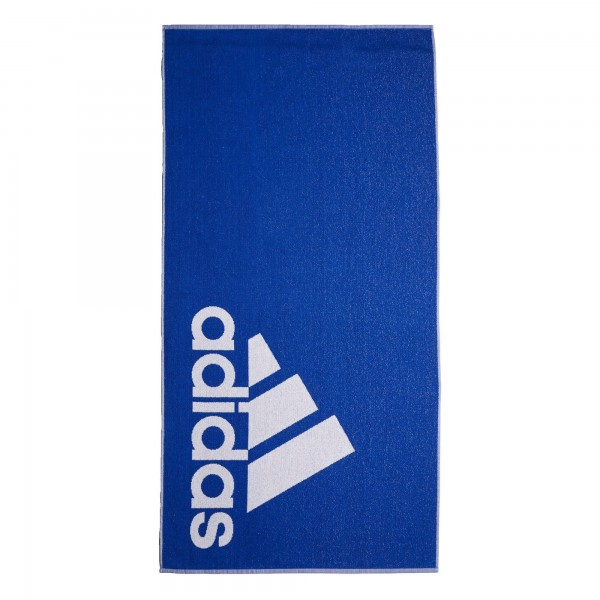 Adidas Handtuch Badetuch blau-weiß