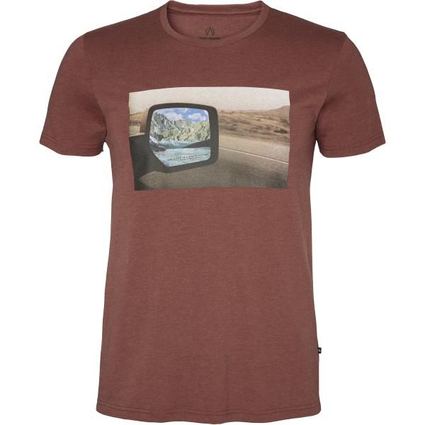 North Bend Herren Vertical T-Shirt red clay