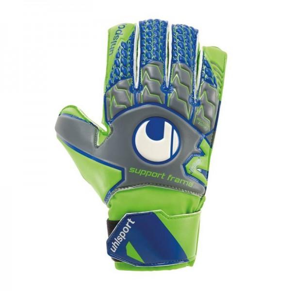 Uhlsport Kinder SF Soft Torwart-Handschuh grün-grau-blau