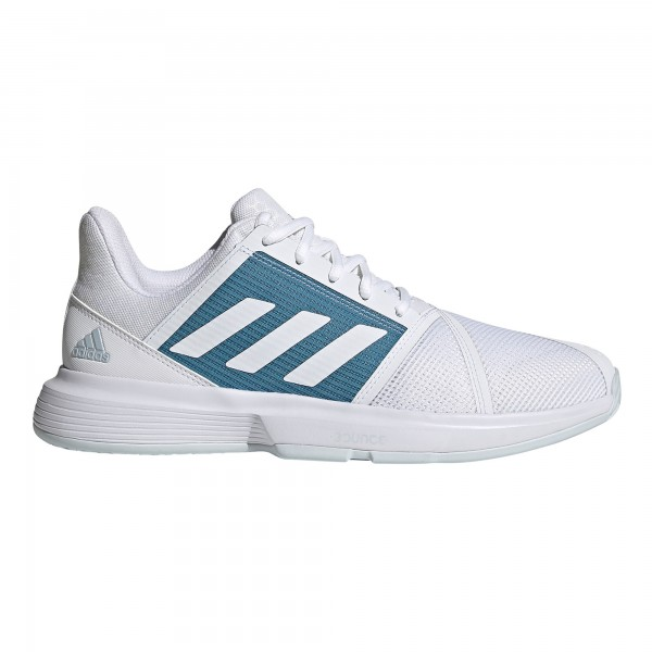 Adidas Herren Court Jam Bounce Tennisschuh weiß-türkis