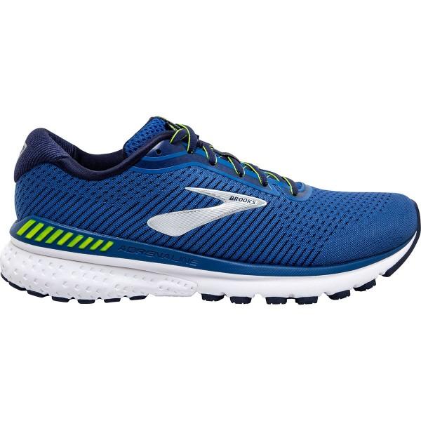 Brooks Herren Adrenaline GTS 20 Laufschuh blau-weiß-neon grün