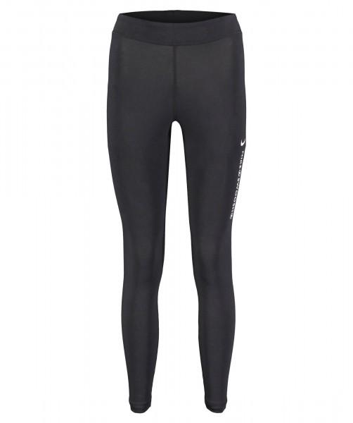 Nike Damen Sportswear Swoosh High Rise Leggings Fitnesstight schwarz