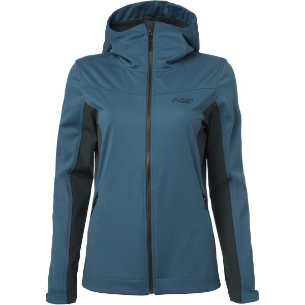 North Bend Damen Softshell Outdoor Jacke blue slate