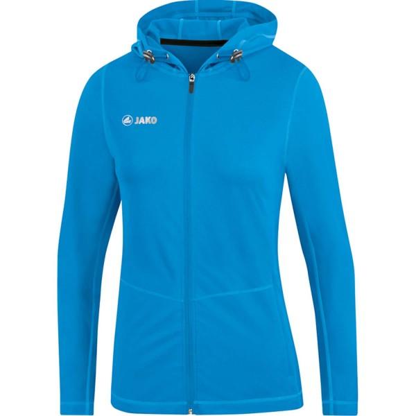 Jako Damen Run 2.0 Kapuzenjacke Sportjacke blau