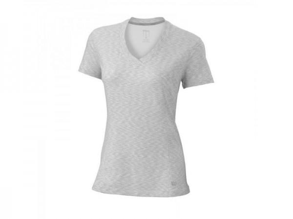 Wilson Damen Striated Cap Sleeve Top weiss Tennisbekleidung 2016