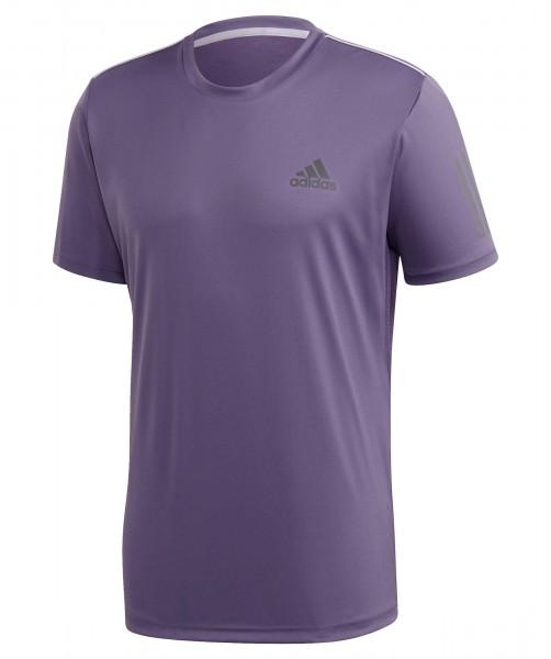Adidas Herren Club 3 Stripes Tennis Shirt lila