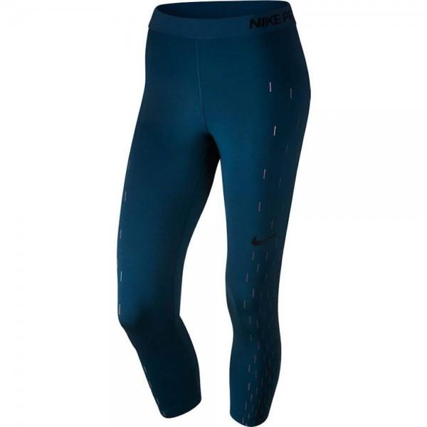 Nike Pro Linear Capri schwarz/grünblau/grau